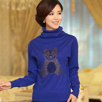 2013 autumn and winter women women's turtleneck knitted sweater
