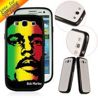 TPU+ PC Customized Designer Case hard back cover skin for Samsung Galaxy S3 SIII I9300 BOB MARLEY ZC0022 Bulk Free shipping