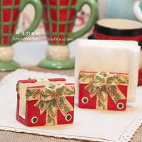 Ceramic relief paper towel holder card stock sponge holder Christmas gift decoration 0.2kg