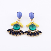Min.Order $10 cheap    neon color block sweet stud earring earrings    fashion 2013 free shipping for women wholesale