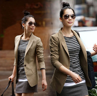 2013 autumn Women long-sleeve winter coat blazer slim suit outerwear