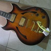 Sunset colors Hollow Tiger jazz guitar