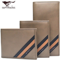 Septwolves wallet 2013 male cowhide wallet long design wallet 3a083223