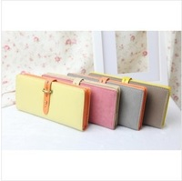 Free shipping new fashion best-selling models Long matte pumping with contrast color Women's Wallets