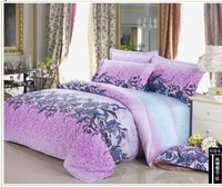 FEDEX Free shipping European-Style Holiday Printed Twill 100% Cotton 4PCS Bedding set