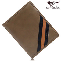 Septwolves wallet 2013 male cowhide wallet short design wallet 3a0832232-09