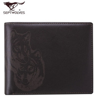 Septwolves wallet 2013 male cowhide short wallet design 3a0831181-02