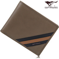 Septwolves wallet 2013 male cowhide wallet short design wallet 3a0832231-09