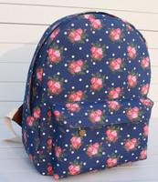 Hot sale new lovely roses Korean school backpack shoulder bag sweet flowers student bag drop shipping