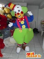 Halloween Clown Adult Size HOT SALE Brand New Mascot Costume Fancy Dress Free Shipping