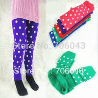 2014 Hot Children Warm Leggings Fashion Printing Dot Female Children Casual Pants Frozen Leggings Girl Free Shipping