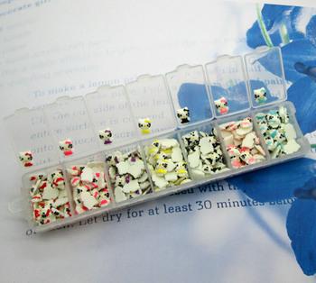 1 Box Cute Resin Cute Cat Flatback Cabochon Nail Art Stickers (210Pcs)