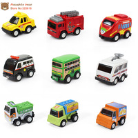 Free Shipping 6pcs/lot Pull Back Car Toys Car Children Racing Car Baby Mini Cars Cartoon back of the car Super Street Car