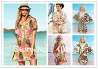 1pcs New Women Sexy Nylon Swimwear Dress Bikini Cover Up Batwing sleeve dresses Party Sexy Swimwear Bikini Cover Up Shirt Beach