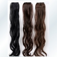 Full high temperature wire curls 2 clip hair piece 65 cm long wholesale sales