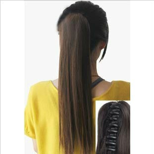 Horseshoers hair extension piece girls long straight hair clip horseshoers wig piece high temperature wire