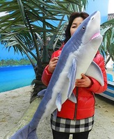 140cm the shark large size toys  Authentic simulation animal Marine animal plush toy doll quality goods present gift
