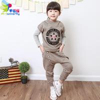 free shipping Chiliasm 2013 autumn child set male female child harem pants set fashion twinset