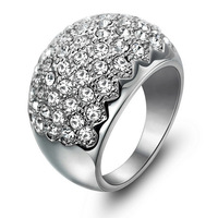 Seiko Super Gorgeous luxury crystal ring female female ring wedding ring Korean jewelry luxury Valentine's Day