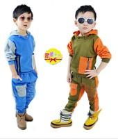 free shipping Baby spring and autumn child sportswear set children sweatshirt gossip children's clothing male child 2013