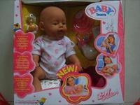 Free shipping New fashion Brand Zapf newbabyborn artificial doll child toy drinking take bath Cute doll simulation playing house