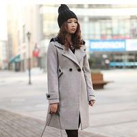 Zaal 2013 women's double breasted slim quality wool overcoat woolen outerwear d236