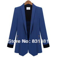 2013 Fall New Europe Style Women Fashion Solid Color Slim Waist loose Suits Jacket Lady Suit Causal Blazers Free Shipping
