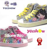 canvas kid's shoes zipper on side lace-up children's shoes children sneaker kid sneakers girl canvas shoes boy canvas boots