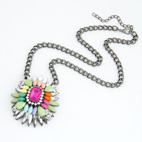 Mini Order $15 !Free Shipping! Metal Necklace Rhinestone fashion jewelry Resin Elegant Pendant Necklace. NE88