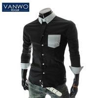 2013 Autumn and Winter Luxury Casual Shirt 100% Cotton Slim Men's Shirt Special Version Promotion