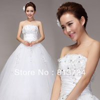 Free shipping,,Sexy flower tube top princess bride dress, wedding dress
