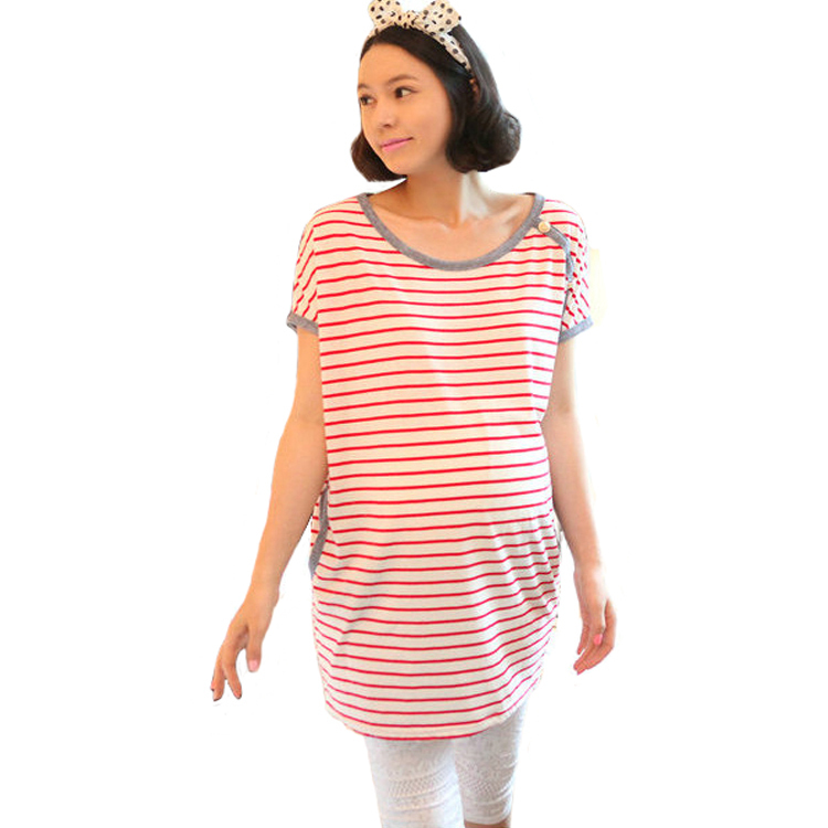 ... clothes-pregnant-dress-summer-women-s-batwing-sleeve-stripe-short