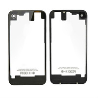 Clear Glass Back Battery Cover Housing for iPhone 4S, 20pcs/lot