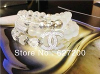 Free Shipping 925 Silver High-end Handmade Crystal Agate String  Bracelet Fashion Jewelry