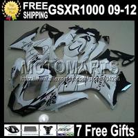 +7gifts CORONA For SUZUKI K9 GSX R1000 09 10 11 12 GSXR 1000 GSXR1000 Q43746 GSX-R1000 White K9 2009 2010 2011 2012 Fairing