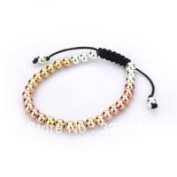 free shipping hot selling 2013 links style bracelets good quality bracelet silver and rose gold plating popular style
