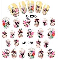 Freeshipping- Fashion Nail Wrap Water Transfer Nail Art Sticker Geisha Girls Dropshipping