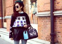 hot free shipping 2013 women's handbag fashion british style in Europe and America retro hit color Korean princess pillow pack