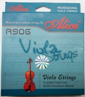 Free shippiing Alice A906 high classs good sound Nickel Chromium Wound Viola Strings