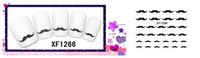 Freeshipping- Fashion Nail Wrap Water Transfer Nail Art Sticker Moustache Design Dropshipping [Retail]