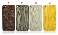 Wood Grain Wooden Back Cover Housing for iPhone 4 4S
