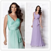 2013 New Design Sexy V-neck Chiffon Evening Dress Long UK-711