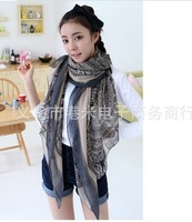 New arrival Popular fashion sika deer pattern scarf  super long voile scarf pashmina for sping/autumn Free shipping LD-077