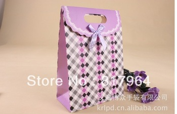 Small Size Black paper gift bag/shopping bag/clothes store bag can print with custom logo