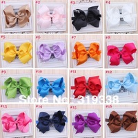 Baby big bow Infant hairbow headband Boutique hair Bow toddler and girls head band bow band 40pcs HB145
