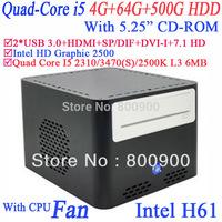 "micro atx pc Windows XP 7 linux with 5.25"" CD-ROM Intel Quad Core i5 2310 3470 2500K 3470S 2.9Ghz-3.4Ghz Intel HD Graphic 2500"