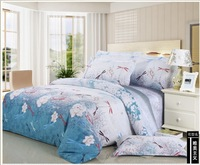 FEDEX Free shipping Colorful dragonfly Printed Twill 100% Cotton 4PCS Bedding set