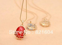 3pcs/lot  Fashion Jewelry Vintage exquisite hollow out pattern cat eye necklace for women Free Shipping