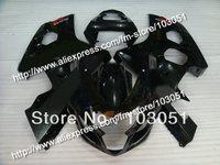 7 gifts bodywork for SUZUKI 2004 GSXR 600 fairing K4 2005 GSXR 750 fairings 04 05 all glossy black DB88
