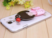 Free shipping New fashion mobile phone case Beautiful kimono girl mirror covers for samsung galaxy S4 SIV I9500